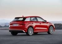 Audi Q2 rouge de profil