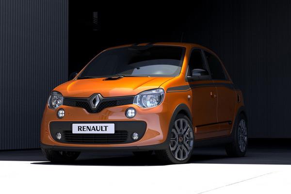 L'avant de la Renault Twingo GT rappelle celui de la R5 Turbo, un joli clein d'oeil.