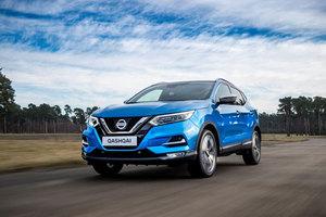 Nissan qashqai bleu de face