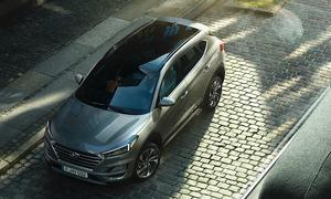 nouveau Hyundai tucson vue de haut