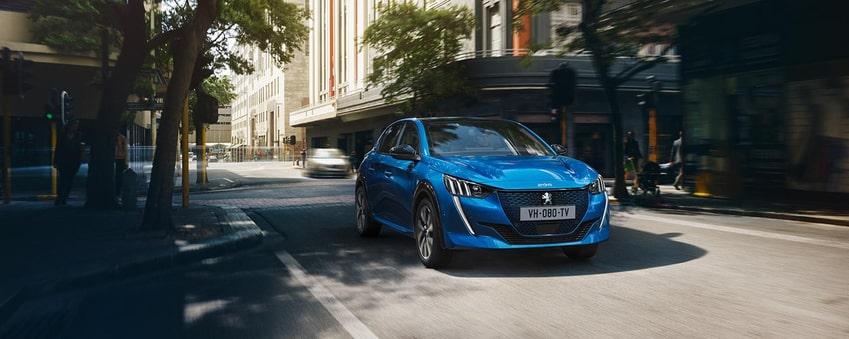 Peugeot 208 bleue