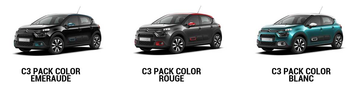 pack color sur citroen C3