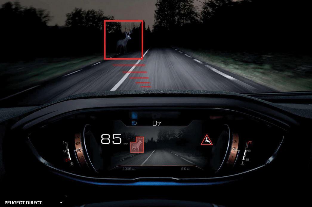 vision de nuit Peugeot 3008