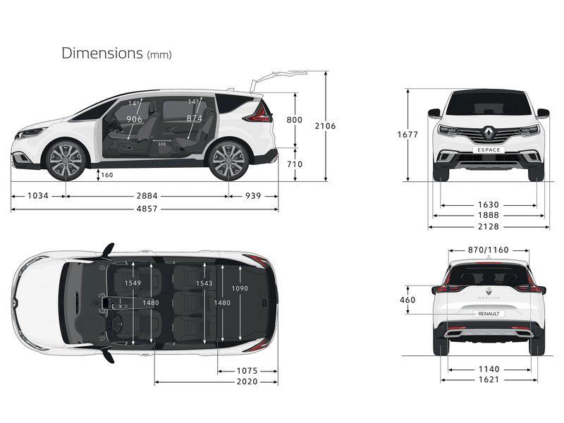 Dimensions Espace 5 Renault