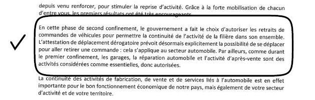 autorisation deplacement vehicule