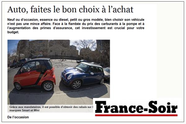 Article France soir sur les mandataires auto